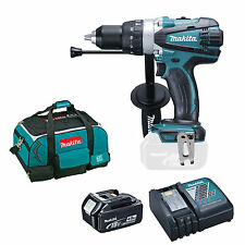 MAKITA 18V DHP458 COMBI DRILL BL1840 BATTERY DC18RC CHARGER & BAG