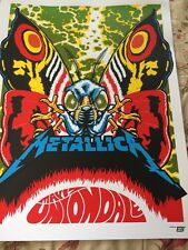 Metallica Uniondale Concert Poster Litho Lithograph Knob Glass Hetfield Uirich