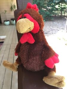 Ganz Brown ROOSTER Stuffed Animal Plush Toy,  HM346