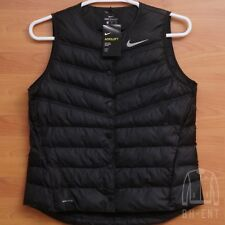 Womens Nike Aeroloft Golf Vest Large Black Running L Puffer Training 856859-010