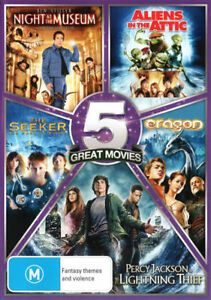 5 Movie Night at the Museum,Aliens in the Attic,Seeker,Eragon DVD -NEW -