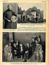 """Para estrenos de Richard avestruz """"Salome"""" en Dresde c.1905"""