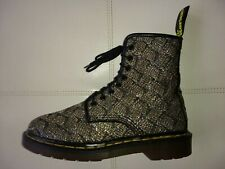DOC DR. MARTENS GOLD LAME GLITTER BOOTS RARE VINTAGE MADE IN ENGLAND UNISEX 5UK