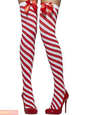 Smiffys Thigh High Red Candy Stripeds Womens Lingerie Wild Secrets