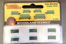 Woodland Scenics A2181. Park Benches. 6 Piece Set. N Gauge.