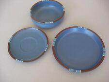 Dansk China Mesa Sky Blue   Cereal Bowl,  Saucer  & Salad Plate  3 Pcs