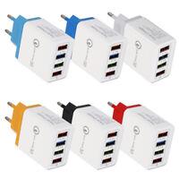 4 Port QC 3.0 Fast Quick Charge USB Hub Wall Charger Power Adapter EU/US Plug