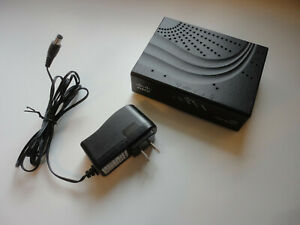 Cisco 2100 Cable Modem: DPC2100R2, DOCSIS 2.0, with AC Power Adapter