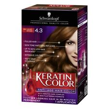 Schwarzkopf Keratin Color Anti-Age Permanent Hair Color, #4.3 Red Velvet Brown