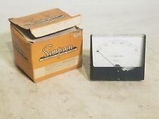 Simpson Instruments Analog Ac Ammeter Model 1359 Cat 10330 0 250v