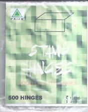 HINGES 500 nos for STAMP COLLECTORS PEELABLE HINGES : TRANSPARENT : SUPERSAFE :