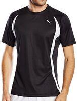 Puma TB Short Sleeve Mens Training Top Black Gym Football Running Sports T-Shirt