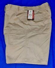 Weekender® 6 Pocket Flat Front Trader Cargo Shorts Sand (Size 44) Tan Beige NWT