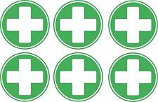 set of 6x first aid cross sticker vinyl health box decal macbook self adhesive