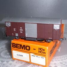 Bemo 3549 H0m gedeckter Schmalspur Güterwagen Gbv RhB Epoche 3/6 sehr gut in OVP