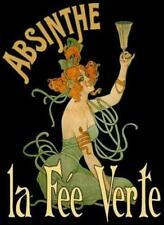 ABSINTHE, THE GREEN FAIRY, FROM VINTAGE ADVERTISEMENT, FRIDGE MAGNET