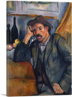 ARTCANVAS Smoker 1892 Canvas Art Print by Paul Cezanne