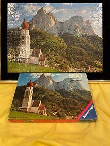 Vintage Ravensburger Puzzle Seiseralm/Dolomiten 500 all pieces intact 1975 w/box