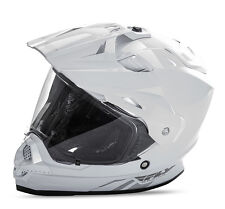 NEW FLY RACING TREKKER HELMET 2016 MX ATV STREET WHITE DUAL CLEAR SHIELD INC