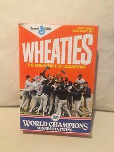 1987 Minnesota Twins World Series Champions Wheaties Cerel Box