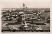 Spain Barcelona, 33, Miramar gardens from the air, Montjuich, unposted