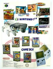 Dépliant publicitaire Poster Nintendo Game Boy Gameboy GB 1990