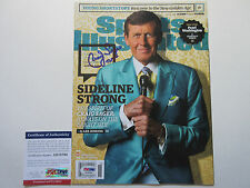 CRAIG SAGER SIGNED SPORTS ILLUSTRATED MAGAZINE PSA/DNA COA AB78760 STRONG TNT