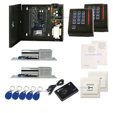 TCP/IP ZK C3-200 2 Door Access Control Systems Electric Bolt Lock 110V Power Box