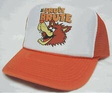 Fruit Brute Trucker Hat mesh hat snapback hat Orange adjustable