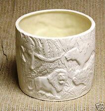Ceramic Bisque Jungle Planter Glaze Inside Duncan 417 U-Paint Ready To Paint