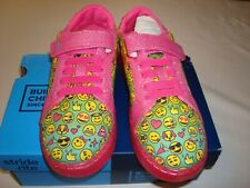 Girl Stride Rite Light-Up Pink Emoji SneakersShoes Size 9 Toddler NEW