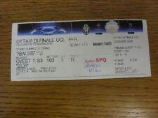 10/03/2009 Ticket: Juventus v Chelsea [UEFA Champions League] (semi-glossy ticke
