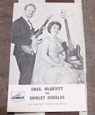 CHAS McDEVITT & SHIRLEY DOUGLAS SIGNED HMV PROMO CARD VERY RARE