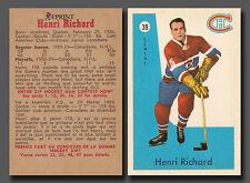 Henri Richard #39, 1959-60 Parkhurst Reprint, Montreal Canadiens Mint Condition