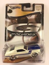 Hot Wheels G Machines '68 1968 Mustang White with Blue Diecast Metal 1/50 2005