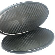 Front & Rear Matt Black Carbon Fiber Badge Emblem For 2015 w s  Free Shipping