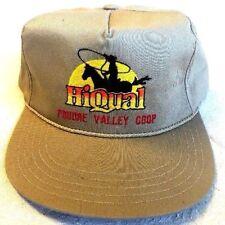 """""""Hi Qual Poudre Valley Coop"""" Trucker Hat Flat Bill Snap Back Tan Cap  Hat (A1)"""