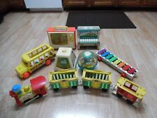 Vtg Fisher Price Toy 156 910 991 192 870 165 114 Train Piano Bus TV Xylophone