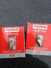 Neuf KYOSHO K5 GLOW bouchons x 2, standard en GXR18, GX21, GXR28, KE21, KE25