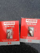 BRAND NEW KYOSHO K5 GLOW PLUGS x 2, STANDARD IN GXR18, GX21, GXR28, KE21, KE25