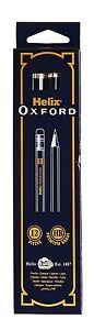 Helix Oxford P35010 Eraser Tipped HB Premium Grade Pencils - Box of 12
