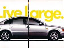 1998 VW Volkswagen Passat 8-sided Original Advertisement Print Car Ad J530