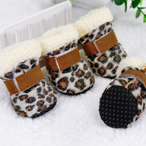 Warm Winter Pet Dog Boots Puppy Shoes For Small Dog Anti-slip Pet Snow Booties