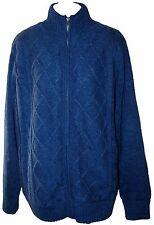 FIELD & STREAM Fleece Lined Sweater Jacket - Full Zipper - Navy Blue - Size: XL