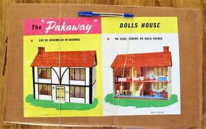 Vintage PACK AWAY Wooden Dolls House by EESERECT England -  Boxed - (1665)