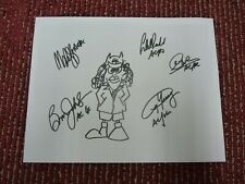 AC/DC Signed Autographed Sheet x 5 w/ Angus Sketch COPY