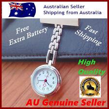 vintage metal silver nurse watch fob nursing pendant pocket brooch extra battery