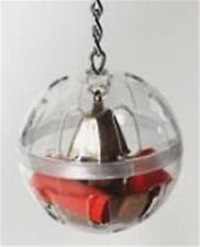 Caitec- Foraging Ball w/ Chain & Bell Heavy Duty 5 inch Diameter Shell