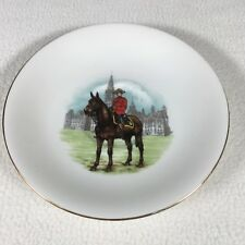 "Royal Alert Bone China Teacup Saucer RCMP 5.5"" Made in England MP On Horseback"