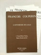 Noten. Couperin. L' Apotheose de Lulli.   Partitur & Stimmen.